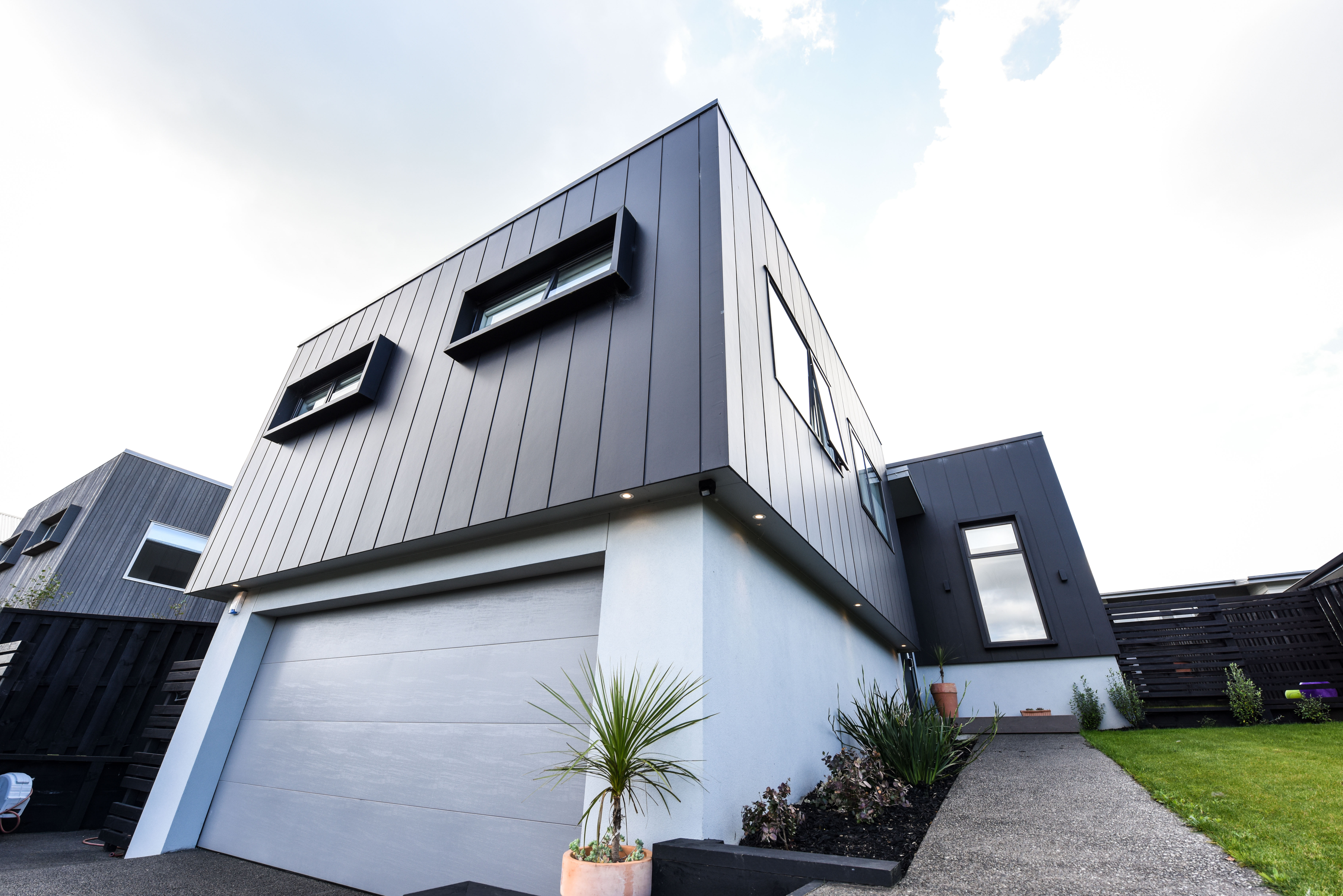 An affordable, architecturally designed home stands out from the crowd with James  Hardie Stria Cladding