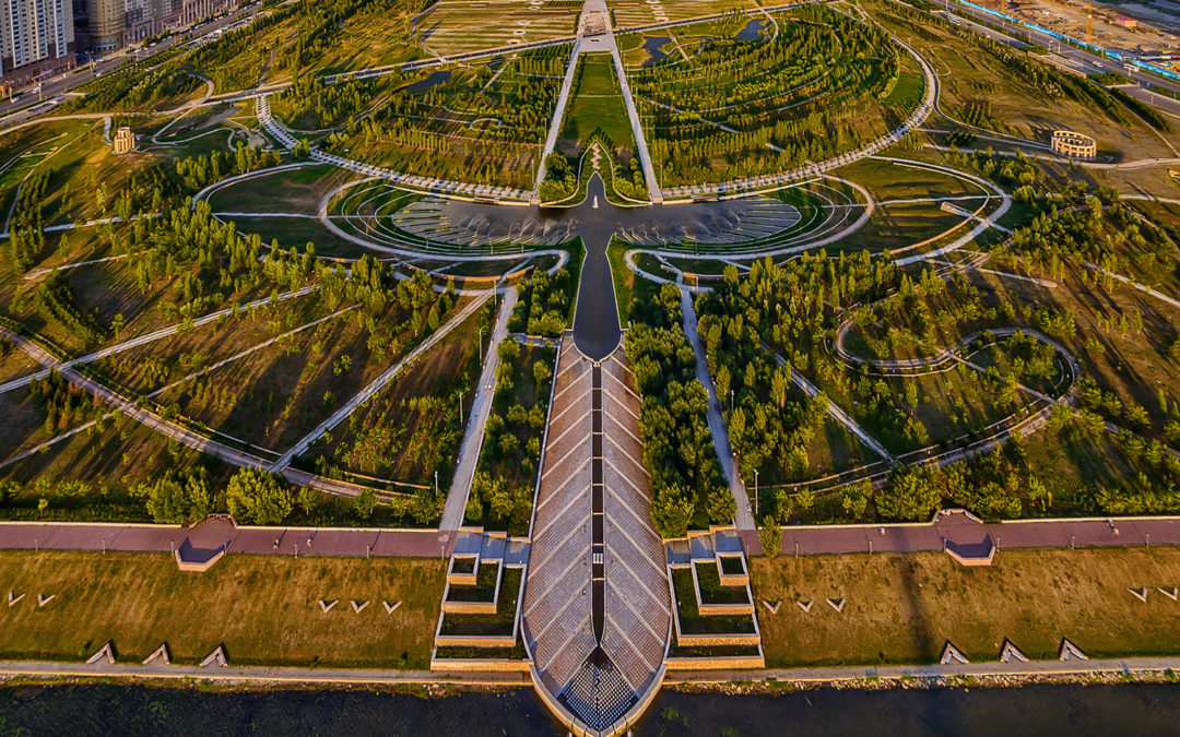 Incredible Bird-Shaped Fountain Invites Visitors to Kazakhstan's Presidential Park